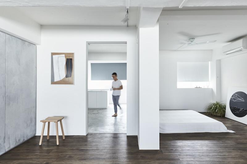 Outstanding House Tour A Calming All White Three Room Hdb In Hougang Home Interior And Landscaping Synyenasavecom