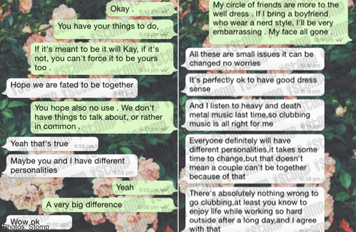 Man keeps trying to woo girl, even after she cruelly rejects