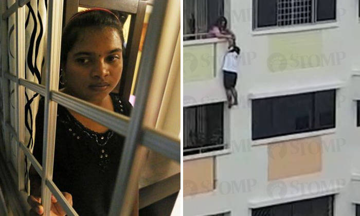 Maid dangling from parapet of Bukit Panjang HDB block  I thought I was dead for sure!  Singapore News - AsiaOne  sc 1 st  AsiaOne & Maid dangling from parapet of Bukit Panjang HDB block: