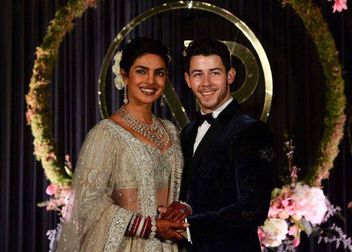 Priyanka Chopra Wedding.Priyanka Chopra Nick Jonas Celebrate Wedding At New Delhi Reception