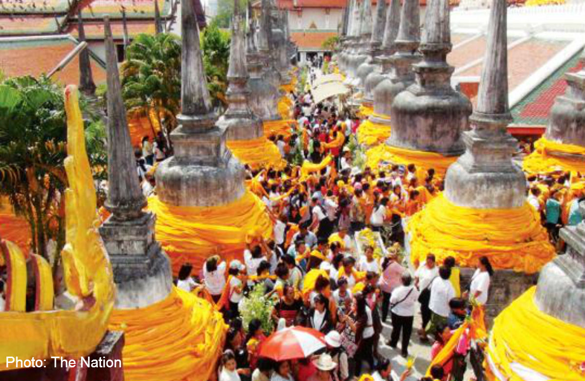 A day of alms giving and a lot of weddings in Thailand, Asia