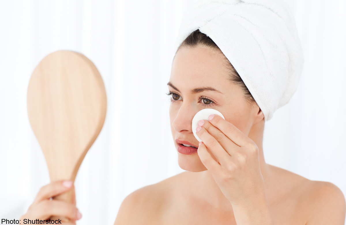 Как делать омовение если на лице макияж