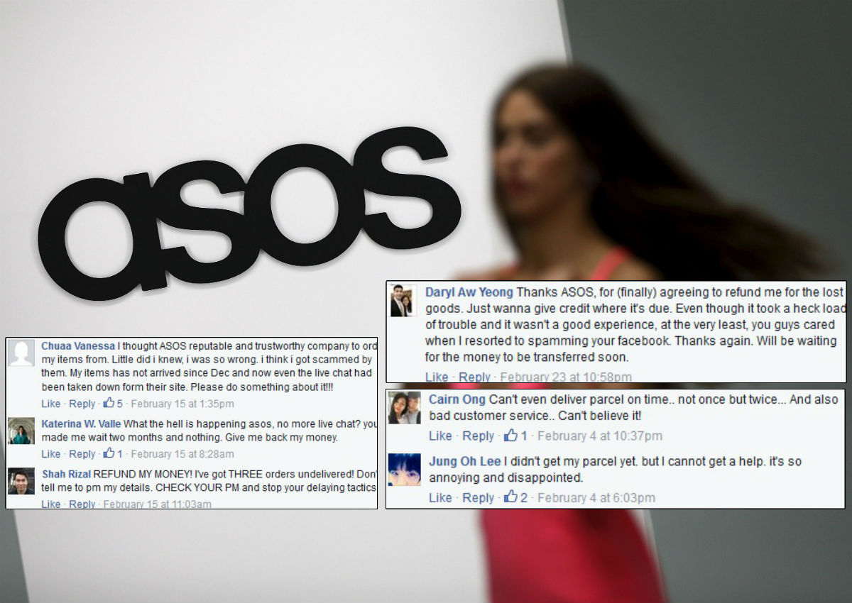 Singapore customers left hanging when Asos orders fail to arrive