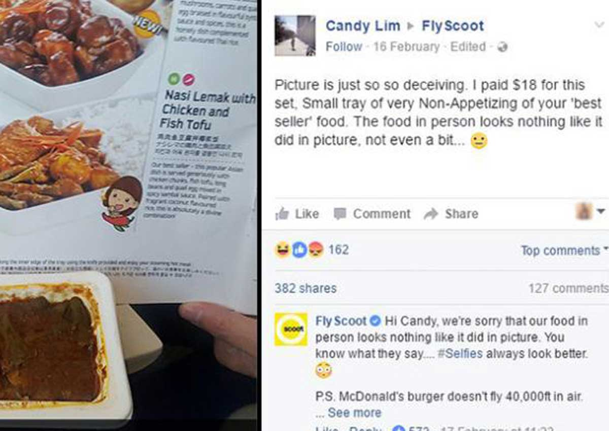 Scoot's 'funny' response to passenger's complaint falls
