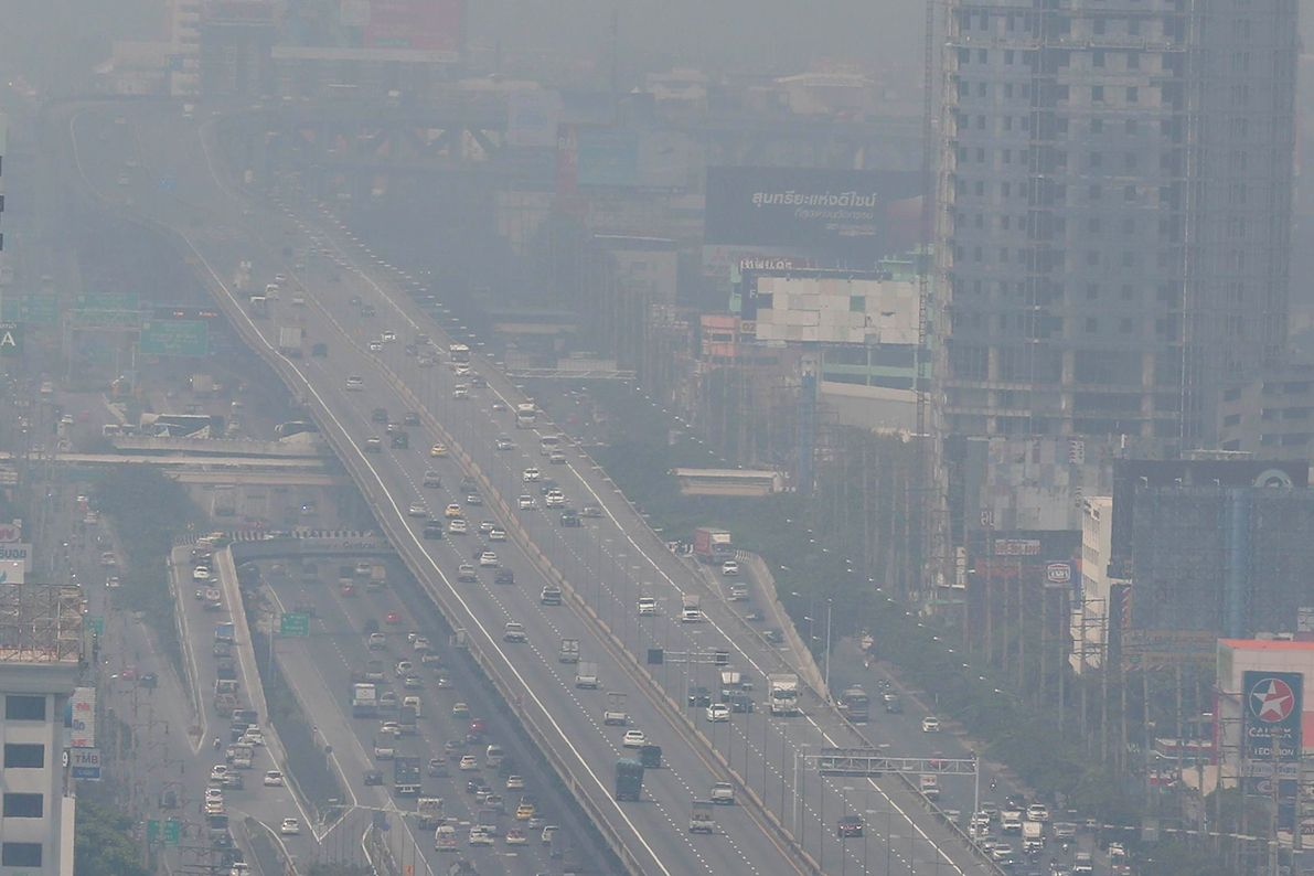 Pollution in Bangkok, Thailand