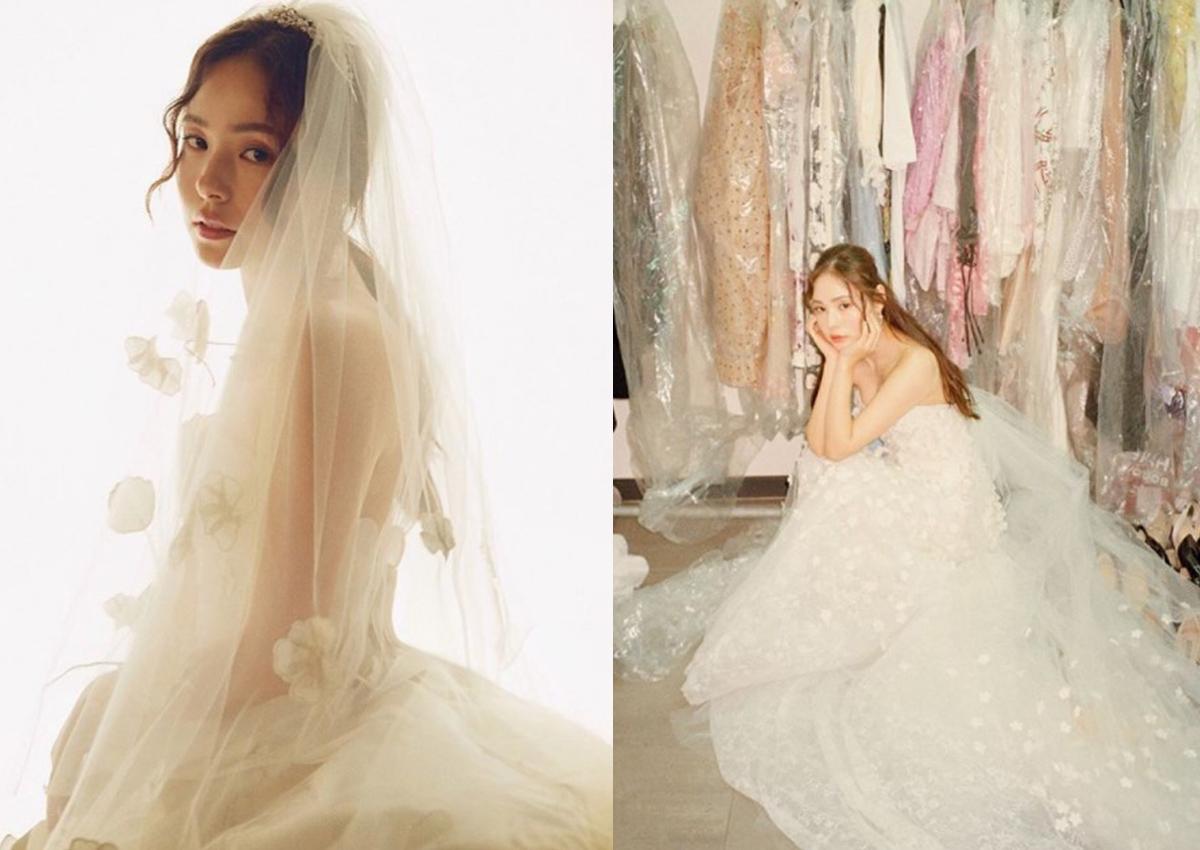 Korean Actress Min Hyo Rin Shines In Wedding Gown Entertainment