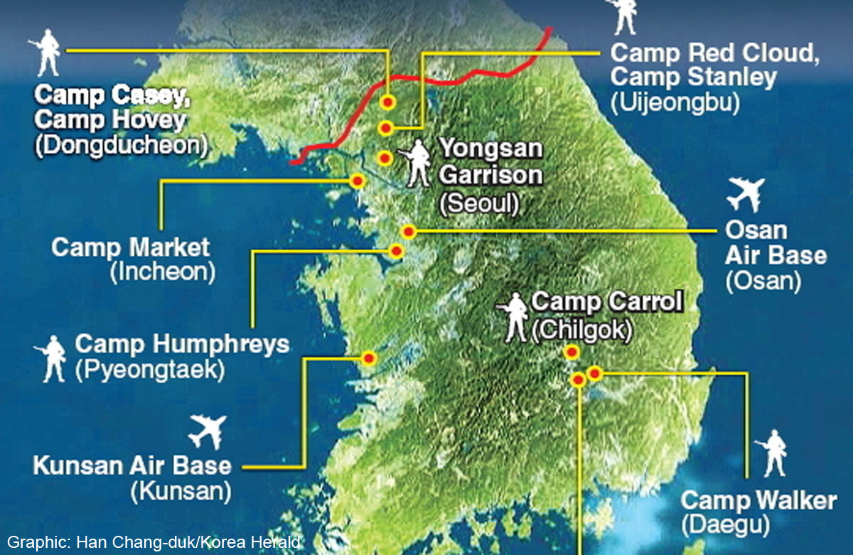 US Military Reinforcements Target North Korea China Asia News - North korea map of us targets