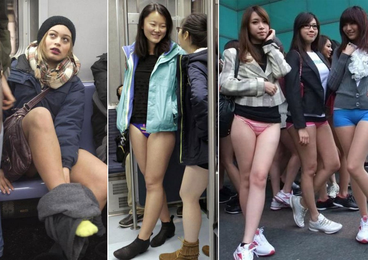 Girls strip on ny subway
