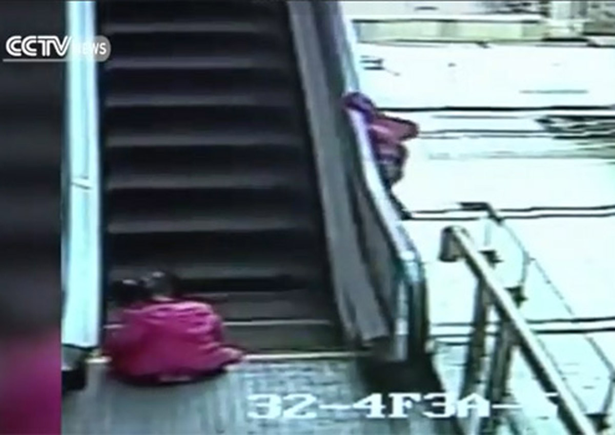 Video captures young girl's death fall from Kunming mall escalator