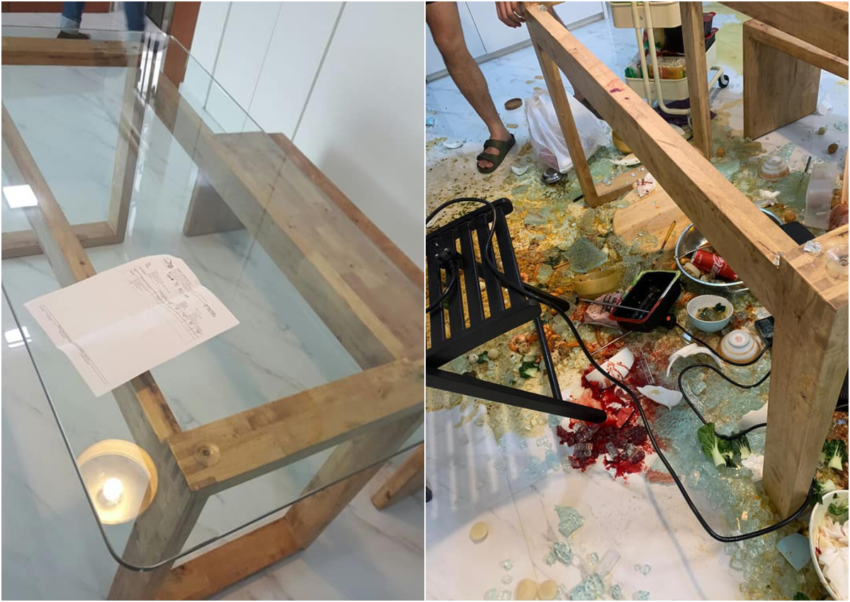 Glass Tabletop Explodes During Hotpot Dinner Leaves Behind Bloodied Mess Singapore News Asiaone