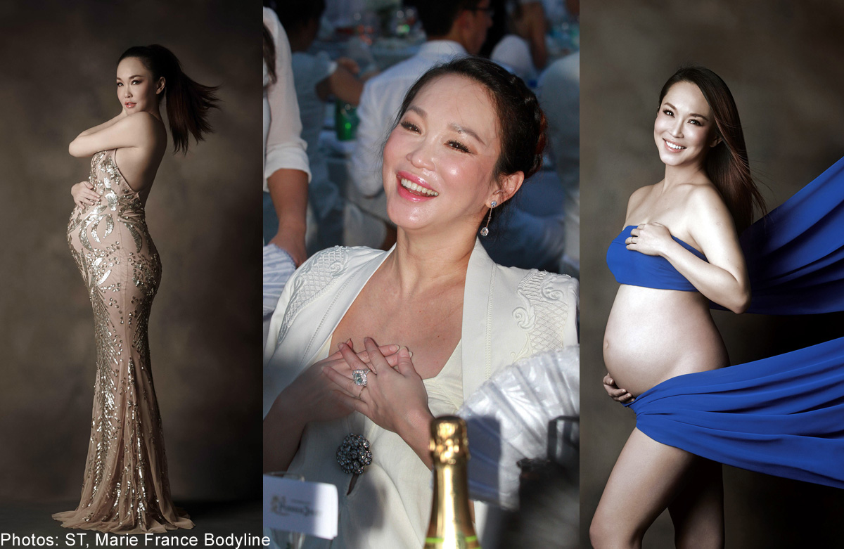 Screaming Fann Wong overcomes fear to do this for her son