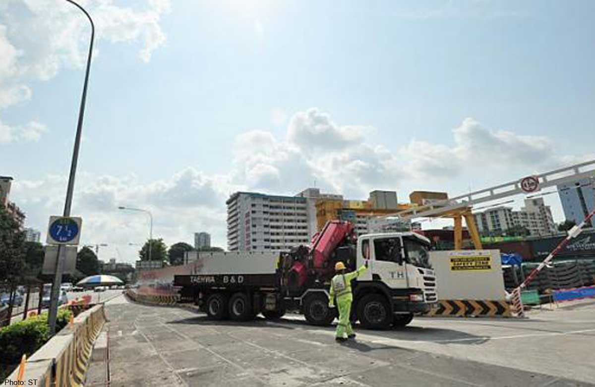 Temporary roads pave way to safety, Singapore News - AsiaOne