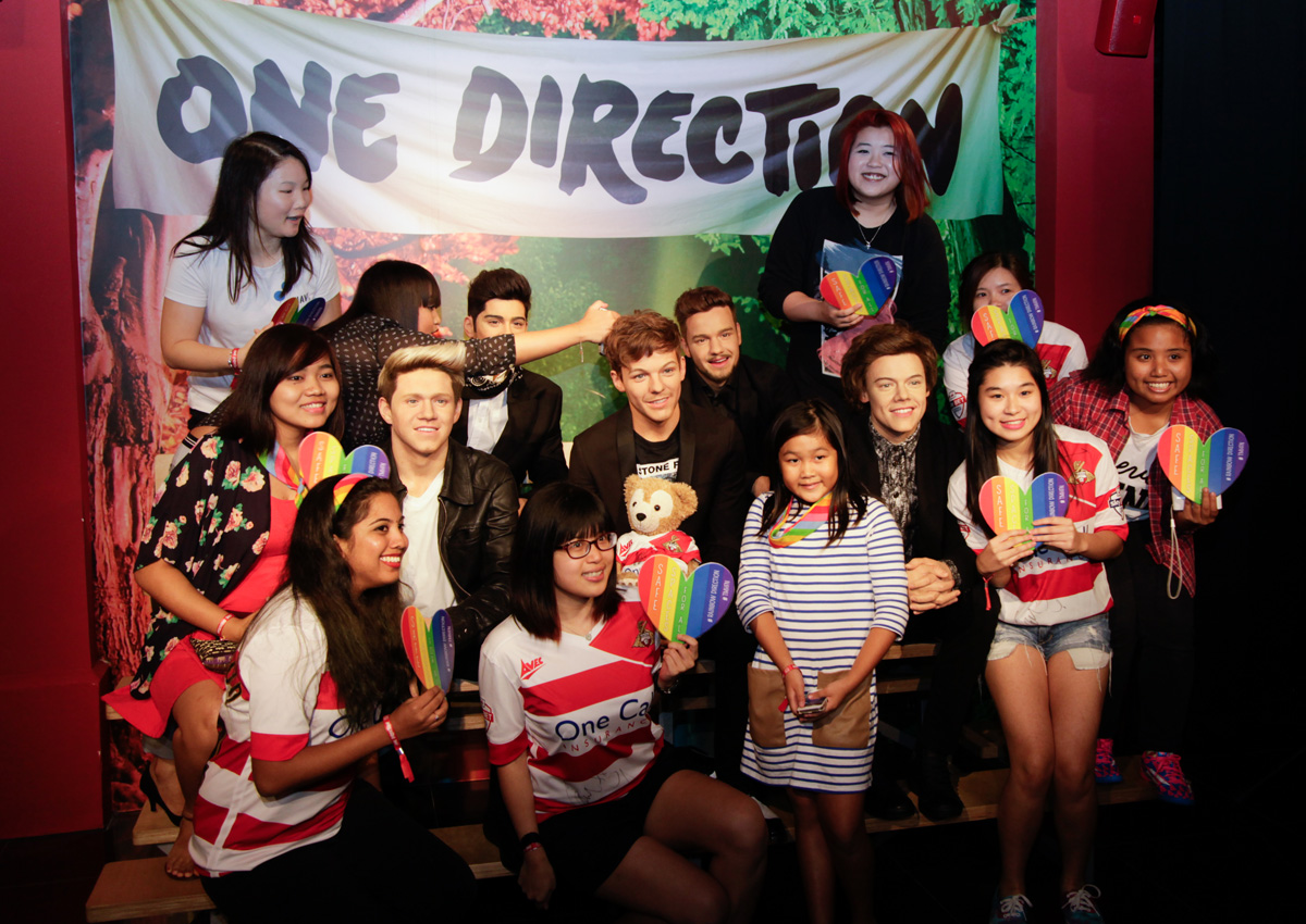 One Direction Arrive At Madame Tussauds Singapore