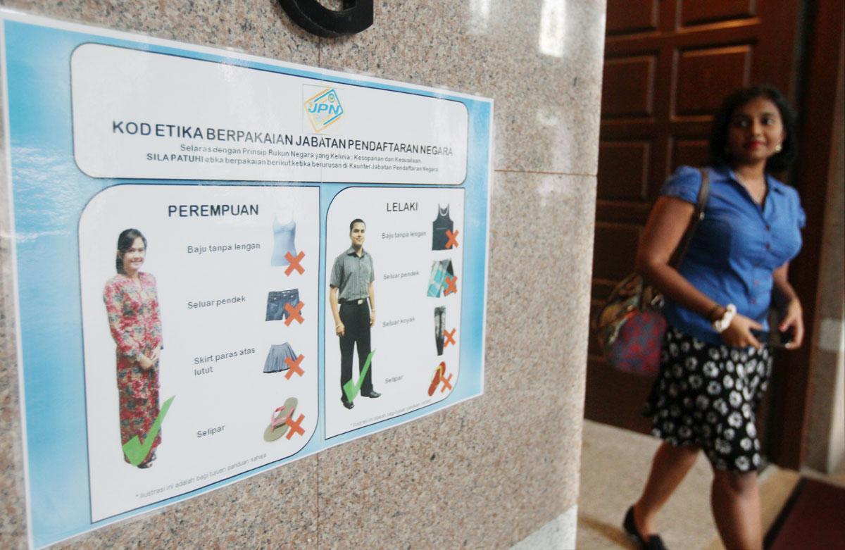 Malaysia Dress Unacceptable