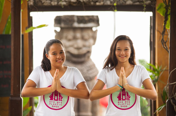 Image result for bye bye plastic bags bali girls