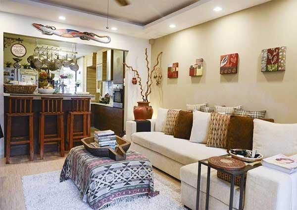 Nostalgic Antiques Wooden Furnishings Transform 3 Room Flat