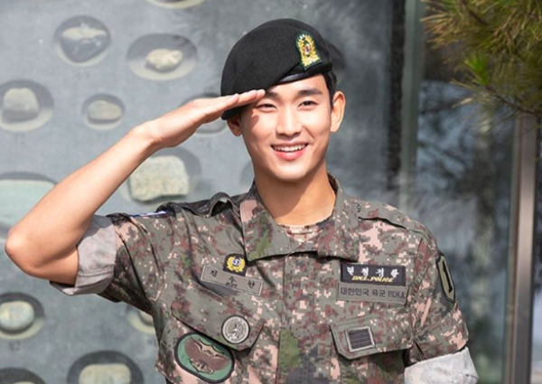 300 fans welcome Kim Soo-hyun as he completes military service ...