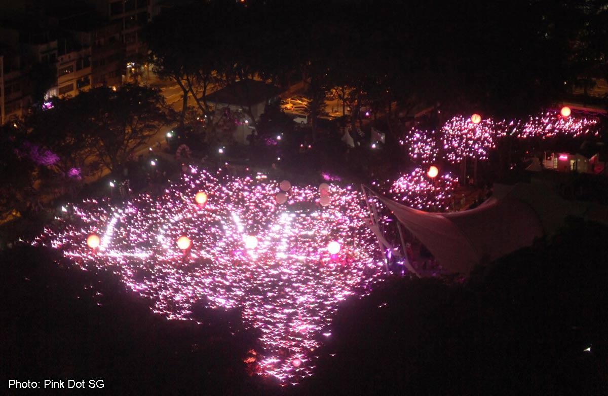 Pink Dot 2015 Draws Record Crowd Organisers Singapore