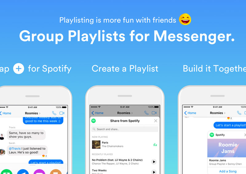 Spotify adds group playlists to Facebook Messenger , Digital