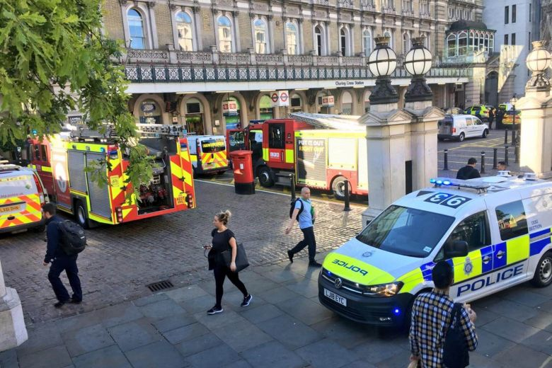 Image result for British police arrest man claiming to have a bomb at London rail station