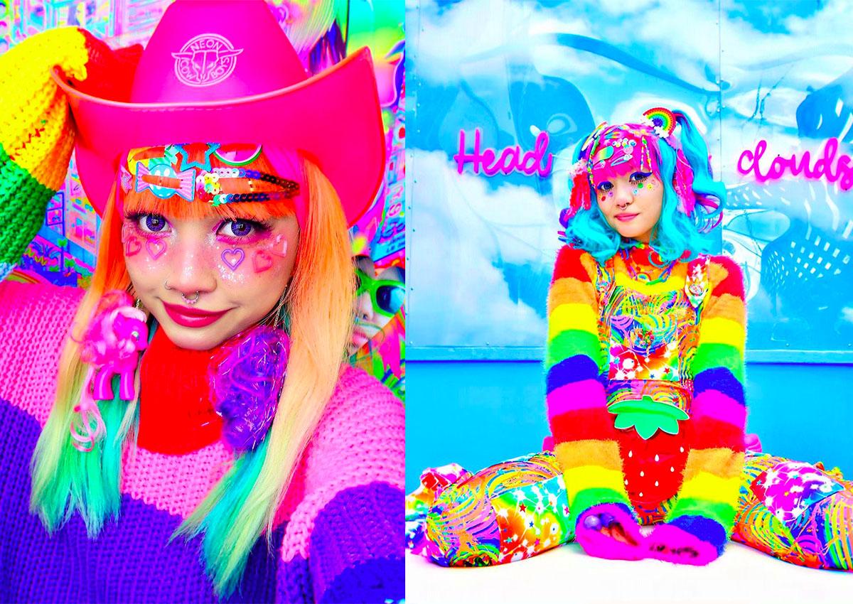 best service 4832c a94ea Singapore-born 'Rainbow Lady' finds fame through wacky ...