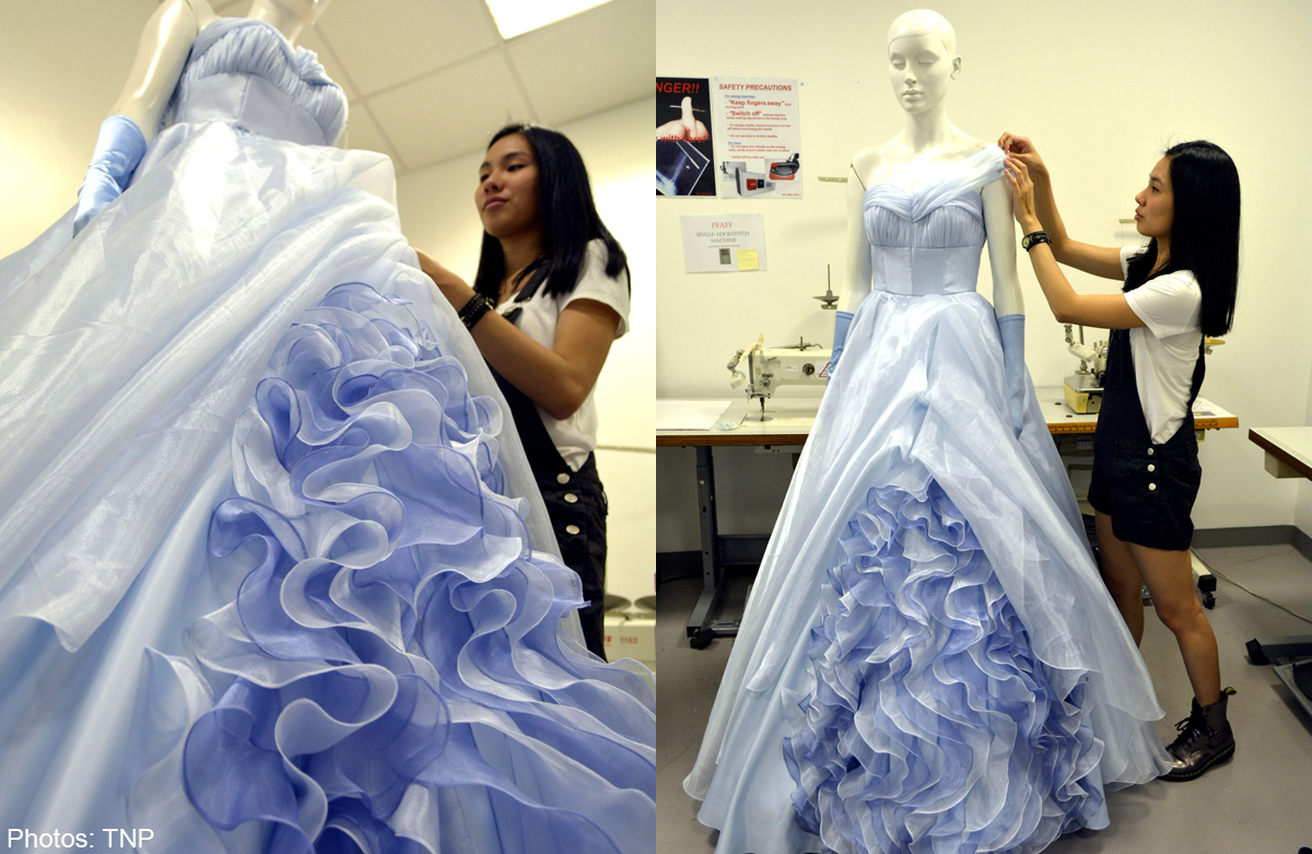 Nafa Student Jumps At Chance To Design Fairytale Gowns Singapore Women News Asiaone