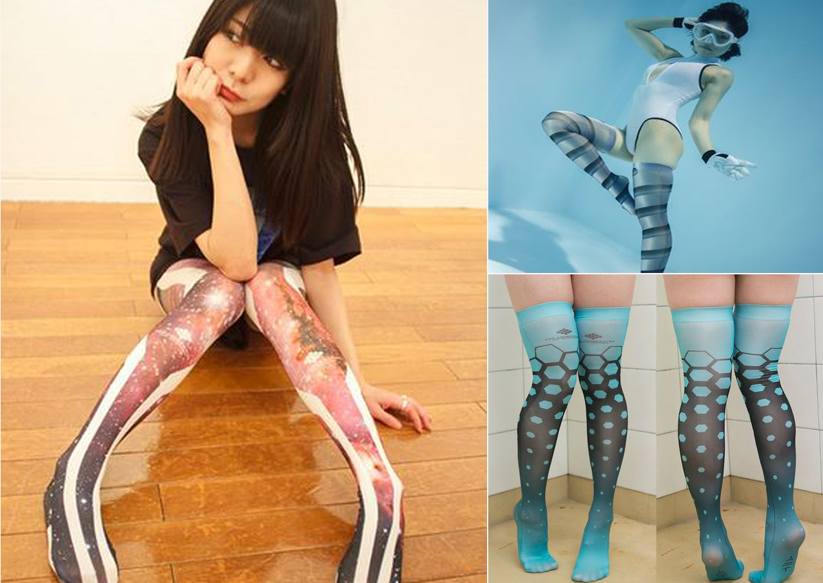 Does japanese girls pantyhose legs