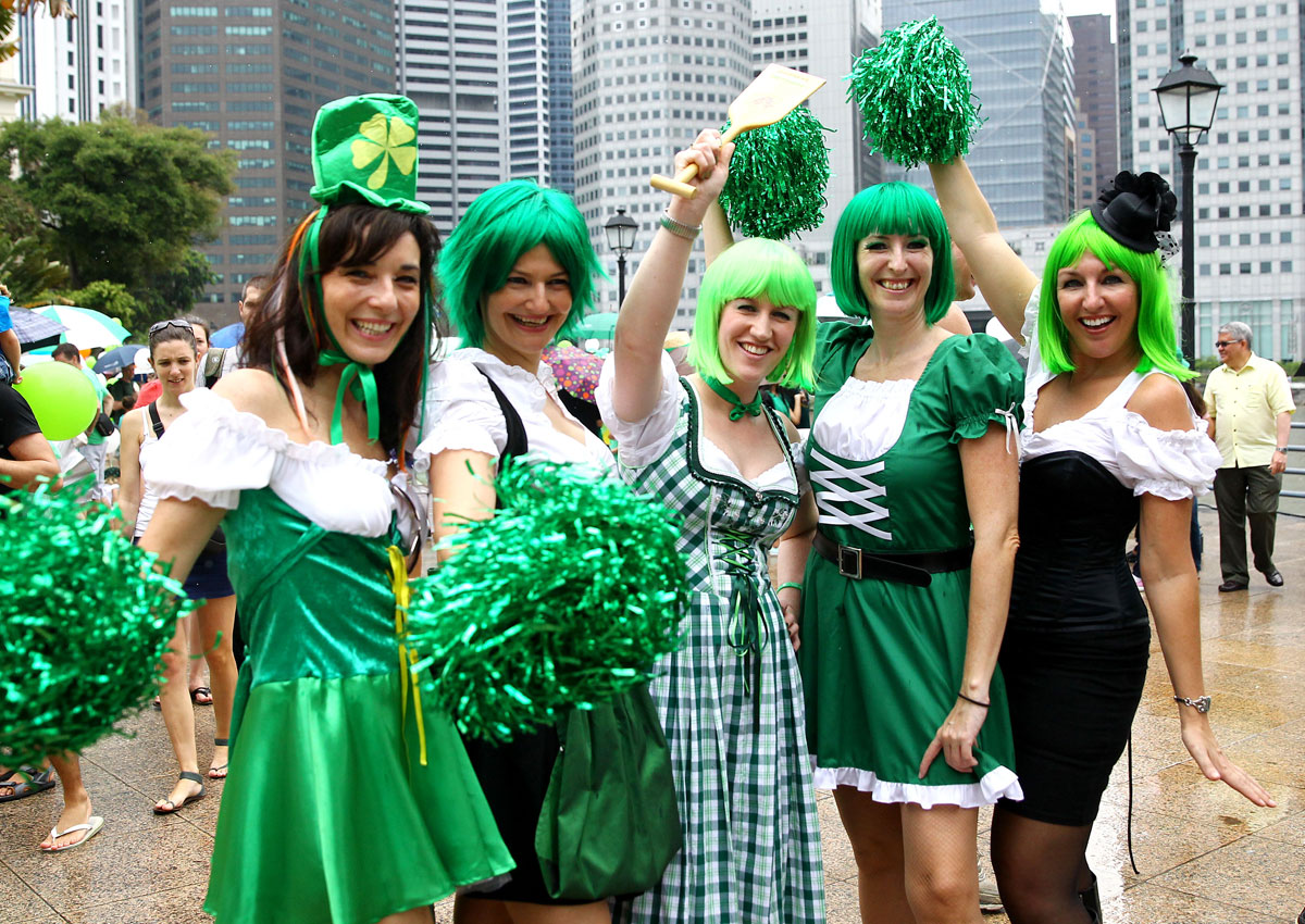 St. Patrick's Day celebrations in Singapore