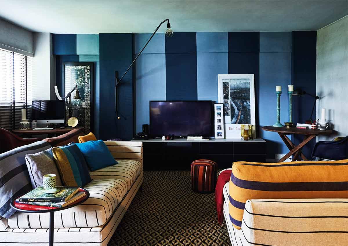 . Mix of colours makes 3 bedroom flat a vibrant yet cosy retreat