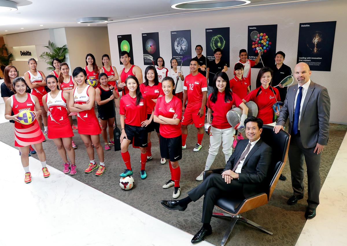 Deloitte lets Singapore athletes work and train, Business News - AsiaOne