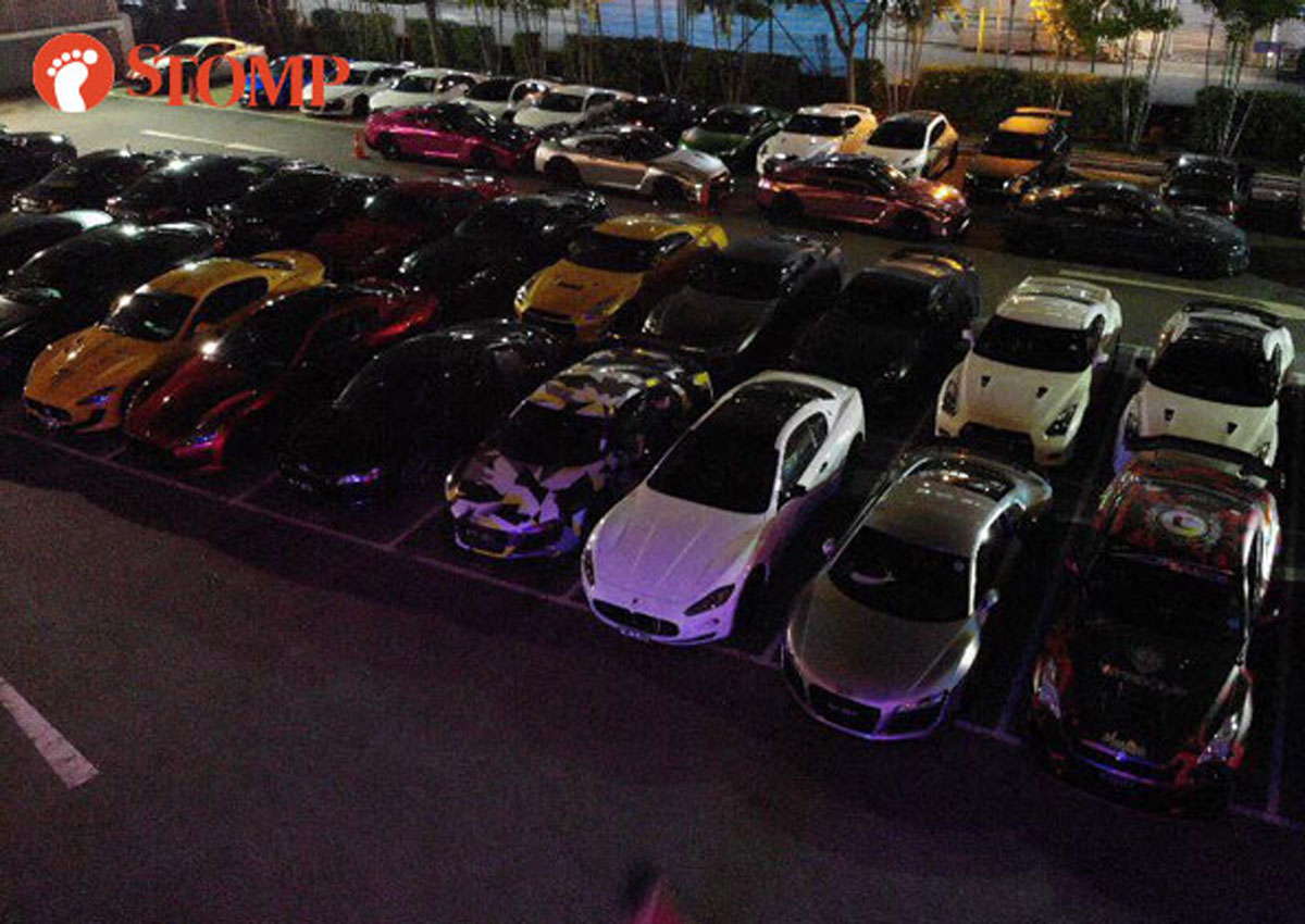 Lambos, Maseratis come out in full force for grand opening