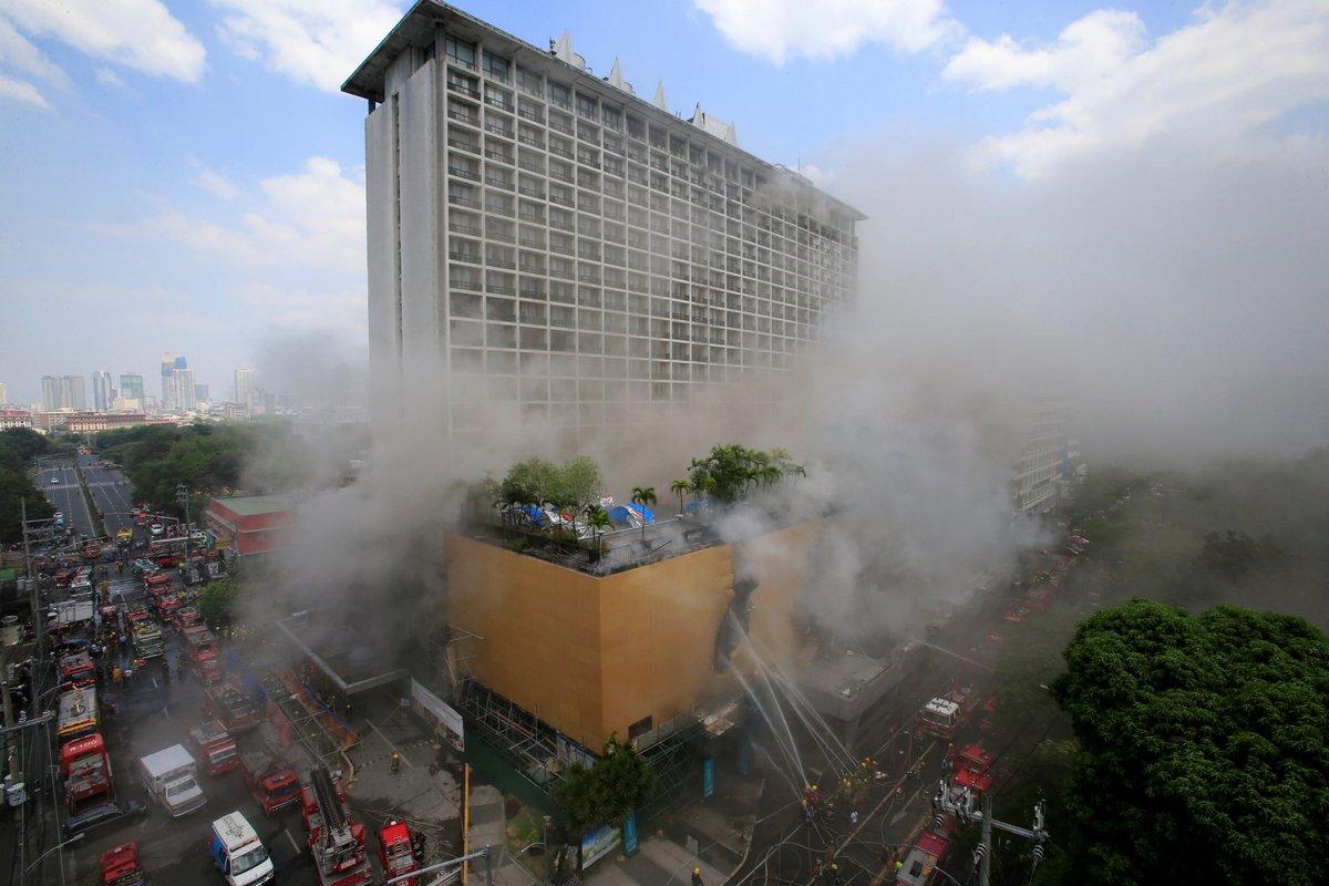 Hotel fire in Manila kills at least three people, Asia