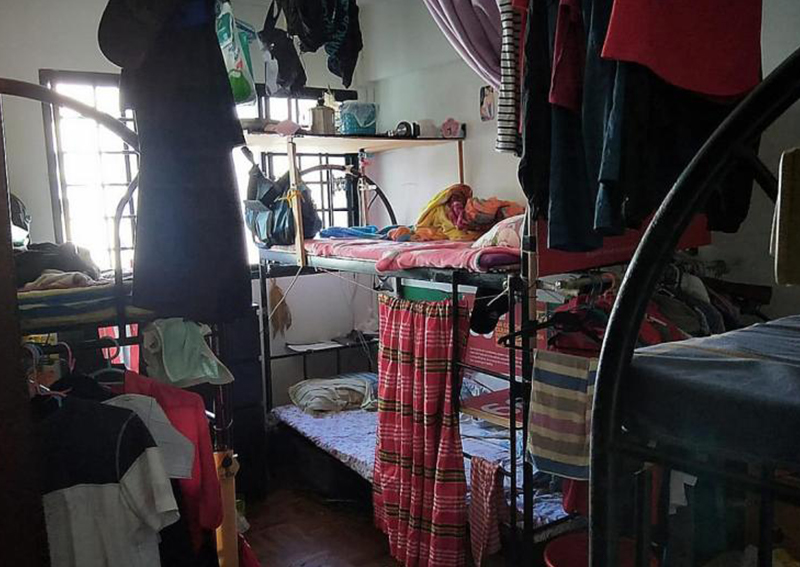 24 tenants allegedly crammed into a four-room Pandan