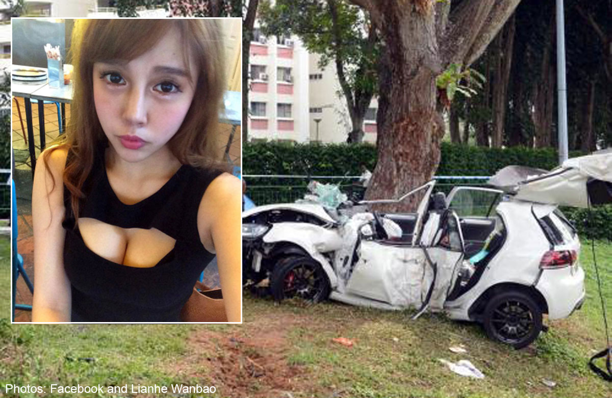 ecp accident taiwanese model dies in car crash singapore news asiaone