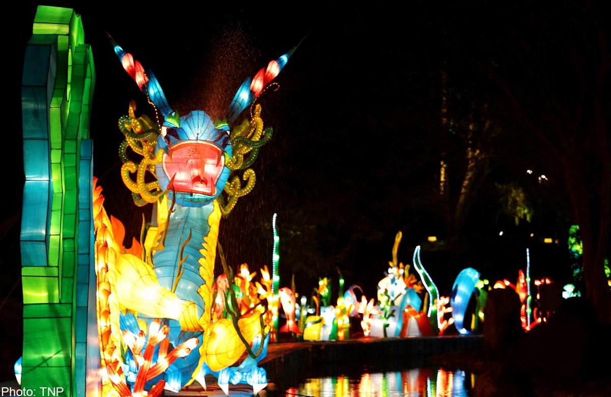 Kong meng san phor kark see lights up for vesak day singapore