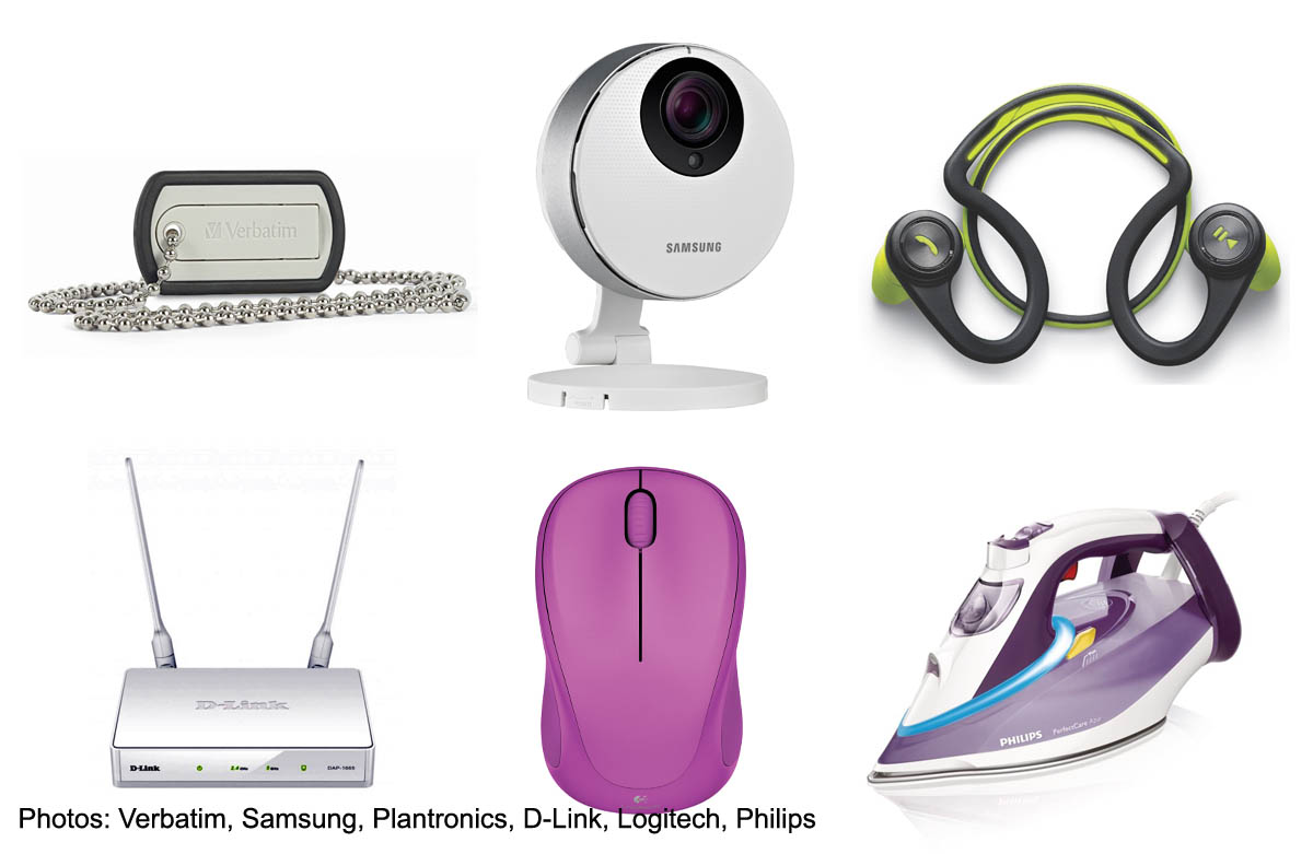 New Products Of The Week May 12 News Asiaone Samsung Smartcam Snh P6410bn Clockwise From Left Verbatim Dog Tag Usb Drive Hd Pro Plantronics Backbeat Fit Headphones Philips Perfectcare Azur Steam