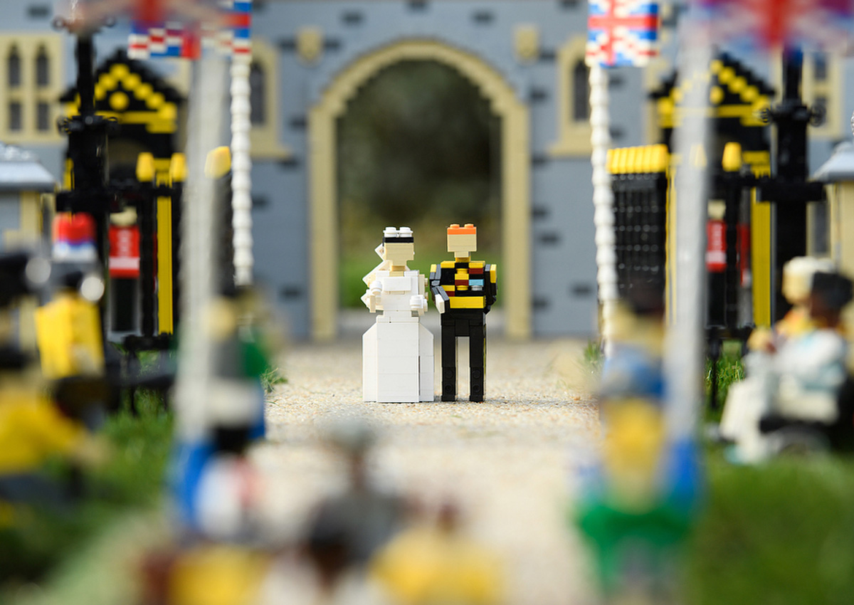 Lego builds miniature Windsor castle to celebrate royal wedding
