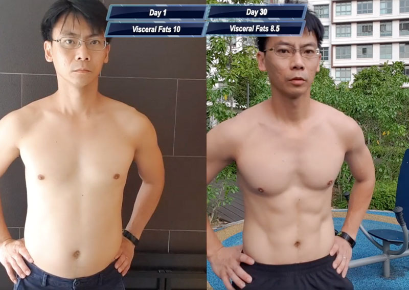 Singaporean guy transforms from flab to fab with One Punch