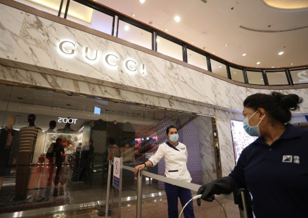 b02540f251 Gucci shop in Hong Kong closes for disinfection after 3 staff catch ...