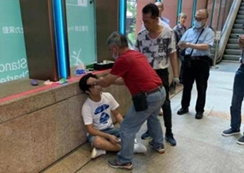 Man in Hong Kong reportedly beaten up outside cinema for leaking