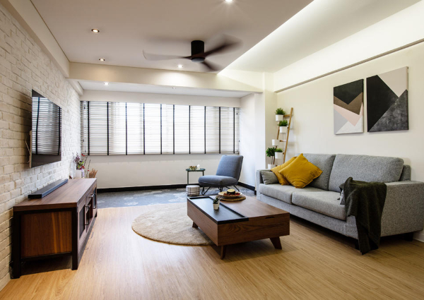 This 4 Room Bedok Hdb Home Features A Modern And Rustic Look