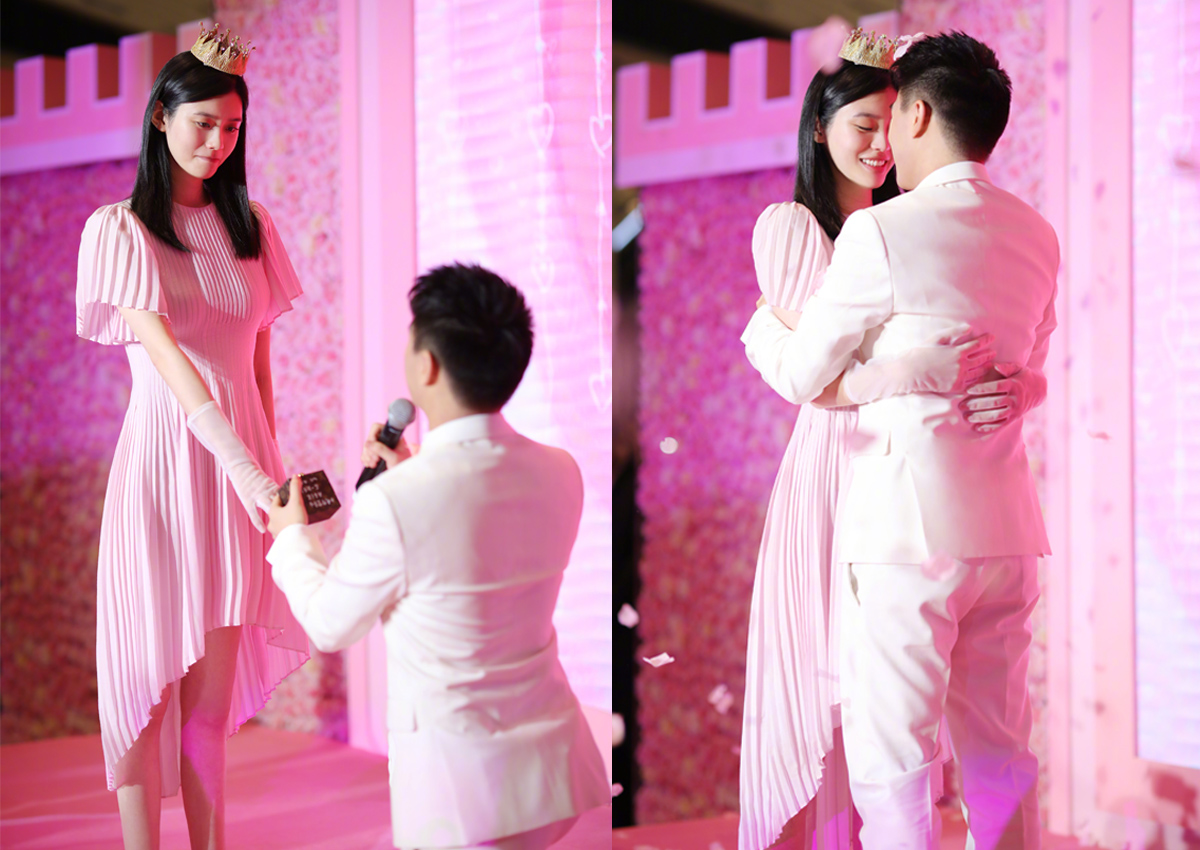 Mario Ho surprises Ming Xi with fairy-tale proposal, Entertainment