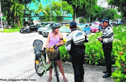Enforcement blitz targets cyclists
