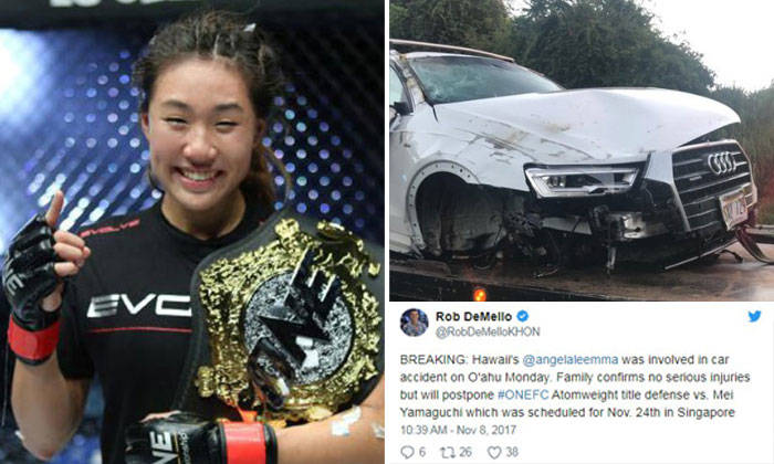 Fighter Angela Lee injured in accident after falling ...