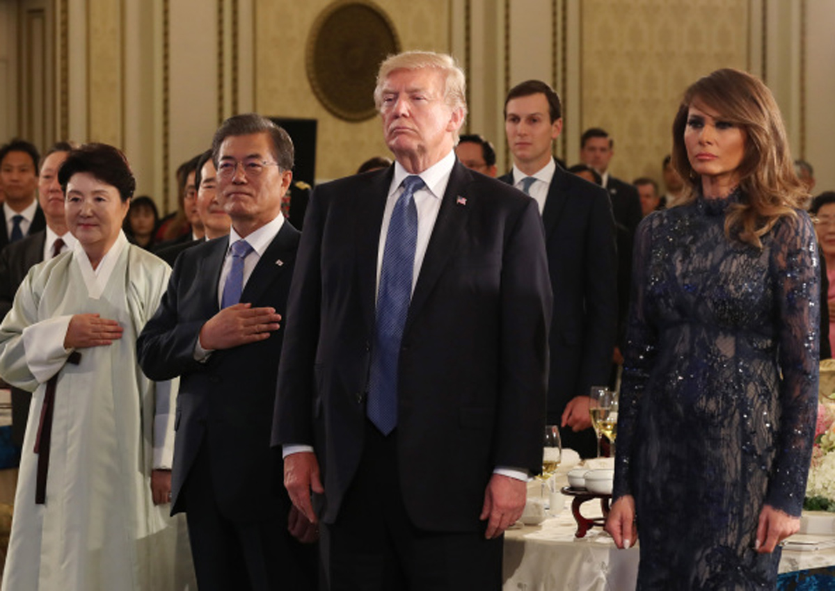 0ed2b7f3fd3 Melania Trump's fashion catches eyes in South Korea, Women News ...