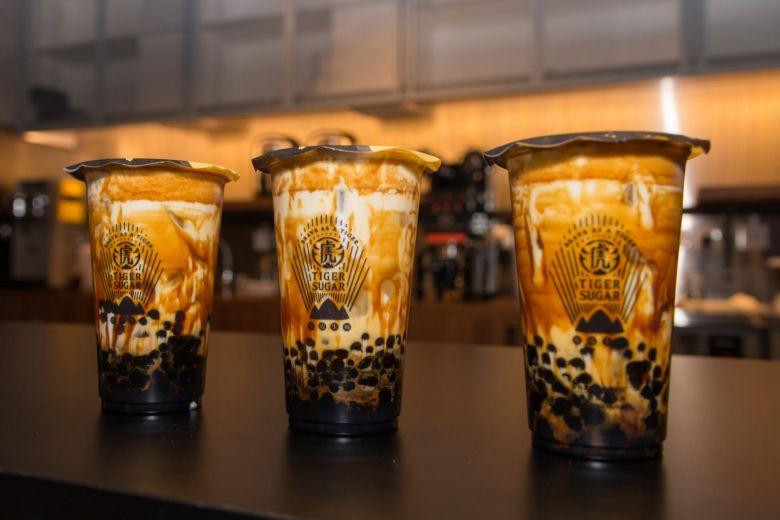 Taiwan's Tiger Sugar, popular for its brown sugar boba fresh