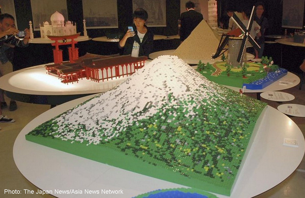 Mt  Fuji reproduced in Lego blocks, Asia News - AsiaOne