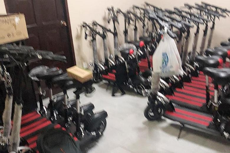 Over e scooters stored in yishun flat residents worried about