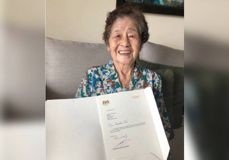 Elderly Woman S Best Birthday Gift Greetings From Malaysian Pm