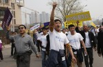 Chinese MH370 relatives protest at Malaysian embassy  - 13